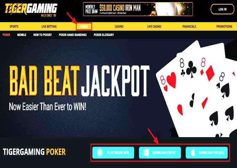 TigerGaming poker casino
