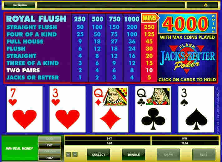 how to play video poker casino